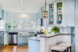 Beautiful Kitchen Cabinets by Furniture Beautiful Kitchen With Blue Glazed Kitchen Cabinets And