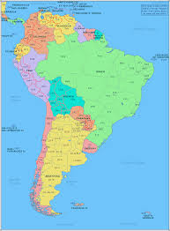 Map Of Western Caribbean by Amateur Radio Prefix Map Of South America