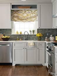 kitchen backsplash trim ideas make a small kitchen look larger cabinet trim gray green and