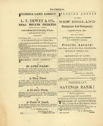 Pamphlet advertising land for sale in Jacksonville and the services offered by the Freedman     s Savings Bank Florida Memory