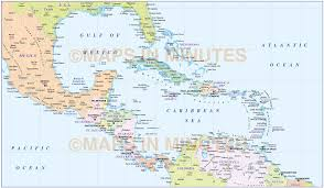 Map Of South America And Caribbean by Caribbean Map With Land And Ocean Floor Relief 10m Scale In