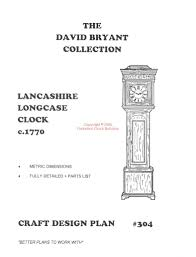 Grandmother Clock Grandfather Clock Plans