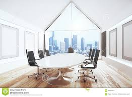 modern conference room table luxury conference room with desk and chairs and big window stock