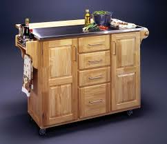 Kitchen Islands Carts by Light Brown Wooden Kitchen Island With Double Drawers And Storage