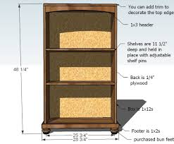 Wood Shelf Plans Free by Ana White Cara Bookcase To Match The Console Diy Projects
