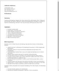 Sample Of Resume Skills And Abilities by Professional Dermatology Assistant Templates To Showcase Your