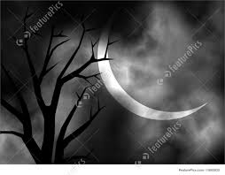 black and white halloween backgrounds illustration of black and white moonlit night