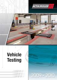 calaméo leaflet actia muller of vehicle testing