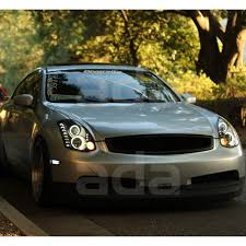 for 2003 2007 infiniti g35 coupe ccfl halo projector black