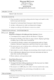 Aaaaeroincus Prepossessing Resume Sample Master Cake Decorator