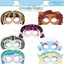 Halloween Masks Printables Monster Girls Printable Masks Printable Masks Monster Masks