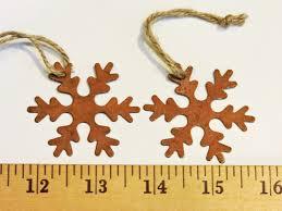 primitive rustic snowflakes rusty look metal christmas ornaments