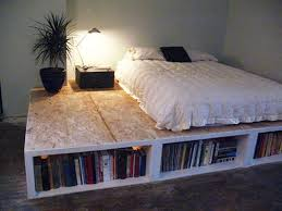 Bedroom Decorating Ideas Cheap Bedroom Cheap Diy Bedroom Idea With Bottom Shelves And Custom