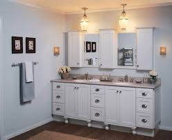 bathroom cabinet with lights and mirror captivating wall ideas