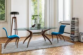 Retro Dining Room Set Dashing Duo Trendy New Dining Tables Usher In Geometric Contrast