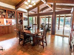 Craftsman Style Dining Room Furniture Secluded Custom Craftsman Style Home In Newhall