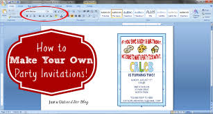 Create Birthday Invitation Card Online How To Make Your Own Party Invitations Just A And Her Blog