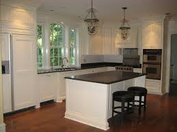 kitchen cabinets antique white cabinets with white appliances