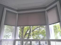geometric patterned roman blinds in a bay window could work in brilliant blinds for bay windows prices get home terrific