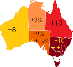 Time Zone Map Usa With Cities by Time In Australia Wikipedia