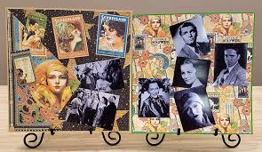 graphic 45 vintage hollywood design team samples by terry meismer terry meismer created these eye catching vintage samples with the graphic 45 collection vintage hollywood her scrapbook pages complete with photos of