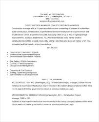Construction Management Resume Examples by 44 Manager Resume Example