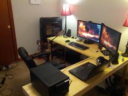 Gaming Corner Desk by Interior L Desks For Gaming With Regard To Remarkable