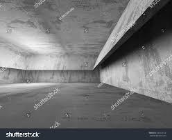 dark empty concrete basement room interior stock illustration