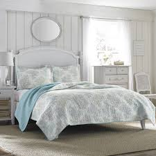 Ocean Themed Bedding Amazon Com Laura Ashley Saltwater Reversible Quilt Set King