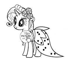 My Little Pony Colouring Pages Stylish Rarity My Little Pony Coloring Page For Kids For Girls