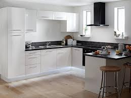 nice modern kitchen with black appliances home design ideas