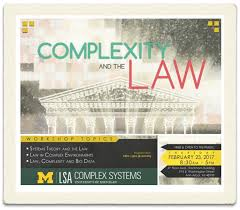 Law as a Complex System Archives   Computational Legal Studies    I am very excited to be heading back to UM     Ann Arbor to speak at the Workshop on Law   Complex Systems  I am particularly interested given that my PhD