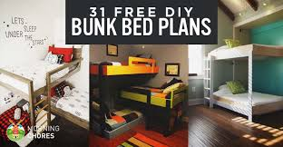 Plans For Bunk Bed With Steps by 31 Diy Bunk Bed Plans U0026 Ideas That Will Save A Lot Of Bedroom Space