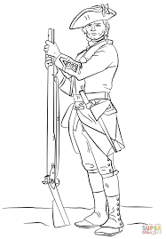 british revolutionary war soldier coloring page free printable