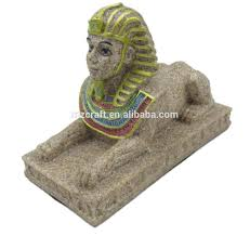egypt style sandstone egyptian sphinx statue for home aquarium
