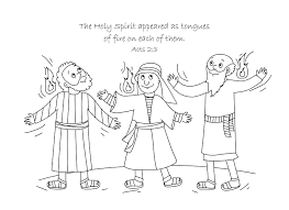 free bible coloring page holy spirit comes