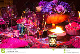 Dinner Table Dinner Table Setting Stock Photography Image 23366042
