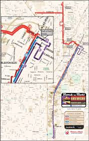 Vegas Monorail Map Las Vegas Marathon Course Map Virginia Map