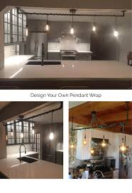 5 pendant light wrap a pipe or bar modern chandelier