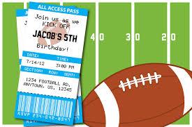 Sport Invitation Card Football Themed Birthday Party Invitation Thank You Card Baby