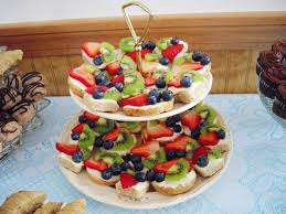 mexican wedding fruit pizza and a bridal shower cooking ala mel