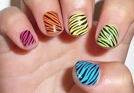 zebra styles elegant nail art for girls trendy mods com