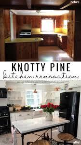 Update Kitchen Cabinets Remodelaholic Kitchen Renovation Updating Knotty Pine Cabinets