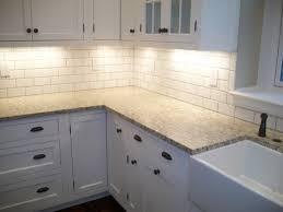 Slate Kitchen Backsplash Kitchen White Cabinets Dark Countertops And Slate Backsplash
