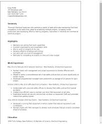 Resume Templates Electrician electricians resume  helper electrician electrician  resume template