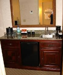 in room wet bar picture of embassy suites by hilton seattle