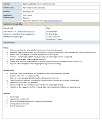 Resume Job Profile by Salon Receptionist Job Description Resume Http Resumesdesign