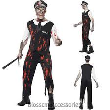 Undead Halloween Costumes Cl555 Zombie Police Man Officer Halloween Scary Undead