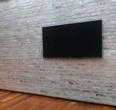 Hidden Cable Tv Wall Mount Tv Mounted On Brick Wall With No Visible Cables Bonus
