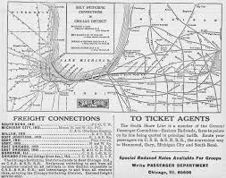 North Shore Chicago Map by The Chicago South Shore And South Bend Railroad
